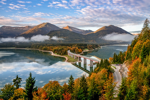 Lake Sylvenstein, Bavaria, Germany, Europe - gettyimageskorea