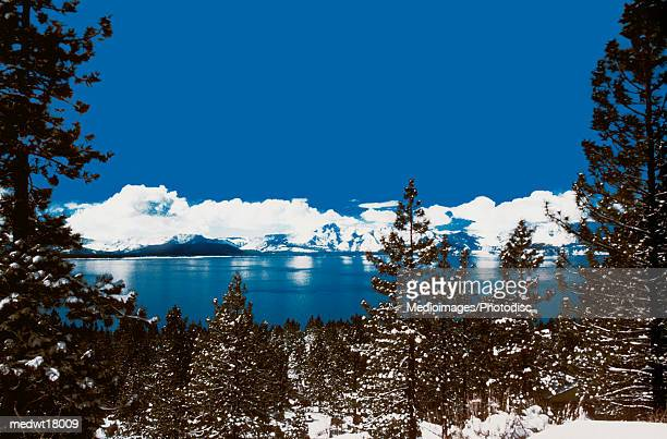 lake tahoe on a winter day in nevada, usa - travel14 stock pictures, royalty-free photos & images