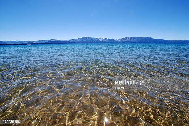 Lake Tahoe sun reflection on water