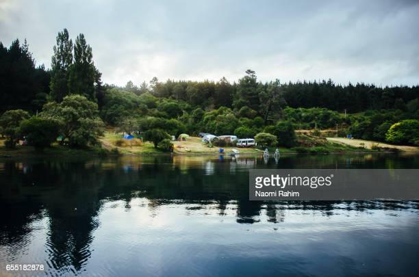 Lake Taupo at Sunset - New Zealand