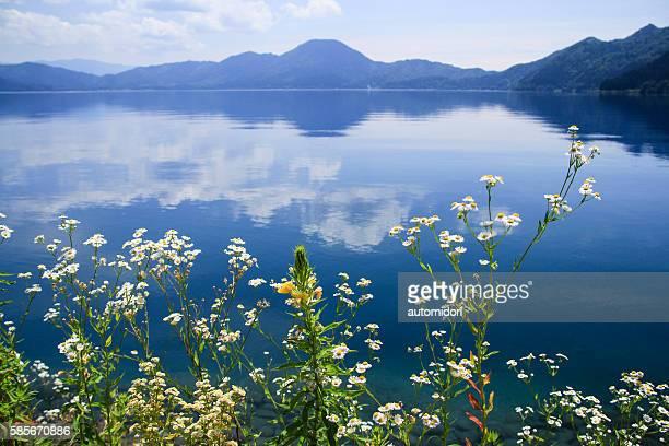 Lake Tazawa (Tazawako) in Akita, Japan