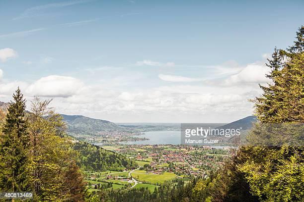 Lake Tegernesee seen from Mt Wallberg, Bavaria, Germany