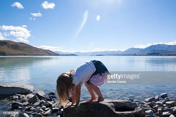 Lake Tekapo happy childlike play