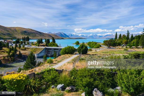 lake tekapo, new zealand - sonnenuntergang stock pictures, royalty-free photos & images
