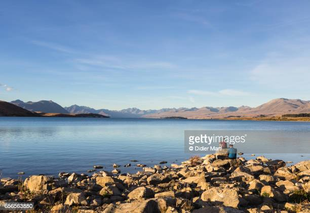 lake Tekapo on a late summer afternoon in New Zealand