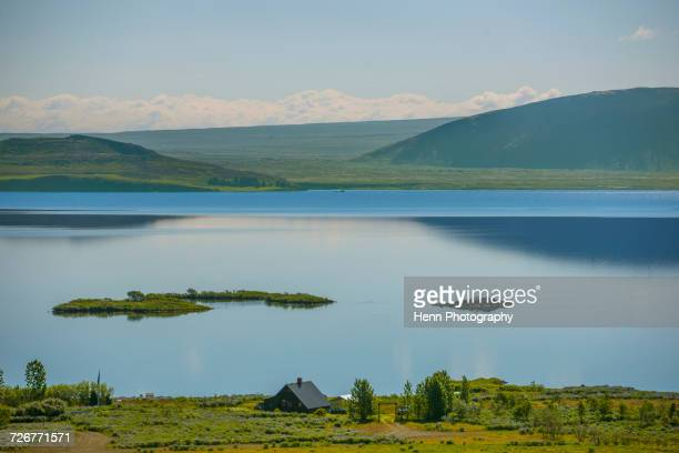 lake thingvellir in iceland - pingvellir national park stock photos and pictures