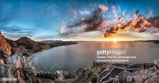 Lake Titicaca Sunset Panorama