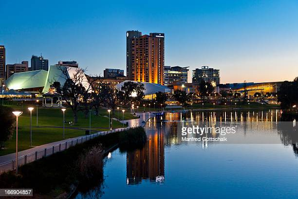 lake torrens & adelaide festival ctr - adelaide festival stock pictures, royalty-free photos & images