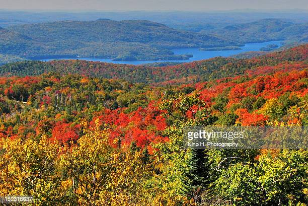 Lake Tremblant and Laurentian mountains