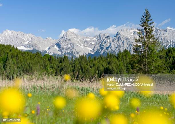 lake wagenbruch. karwendel. bavaria. germany - mittenwald fotografías e imágenes de stock
