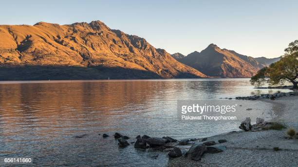 Lake Wakatipu and The Remarkebles, Queenstown, South Island, New Zealand
