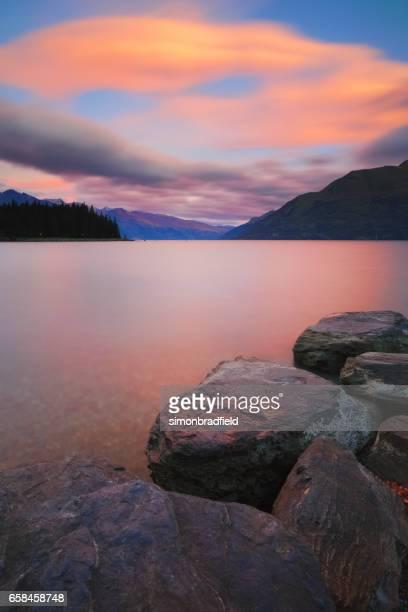 Lake Wakatipu And The Southern Alps