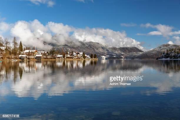 lake walchensee, bavaria, germany, europe - achim thomae stock-fotos und bilder