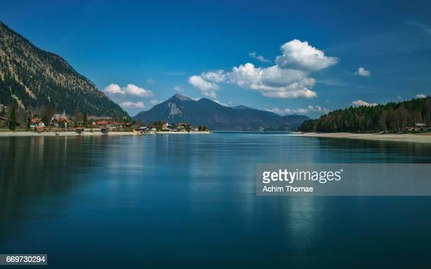 lake walchensee, bavaria, germany, europe - landschaft stock pictures, royalty-free photos & images