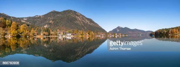 Lake Walchensee Panorama, Upper Bavaria, Germany, Europe