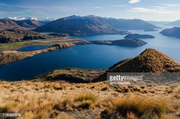 lago wanaka e os alpes do sul - wanaka - fotografias e filmes do acervo