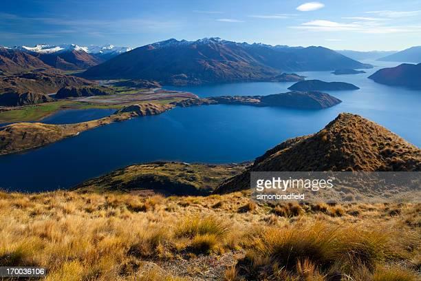 lago wanaka & os alpes do sul - wanaka - fotografias e filmes do acervo