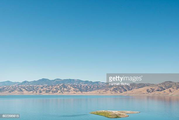 Lake with hills in the background, California