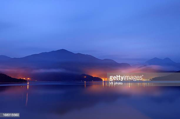 Lake with mist