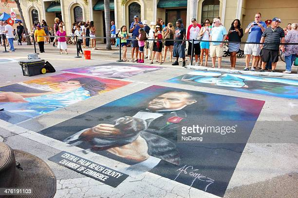 lake worth street painting festival - the godfather stock photos and pictures