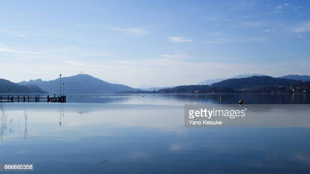 lake wörthersee - 湖 stock pictures, royalty-free photos & images