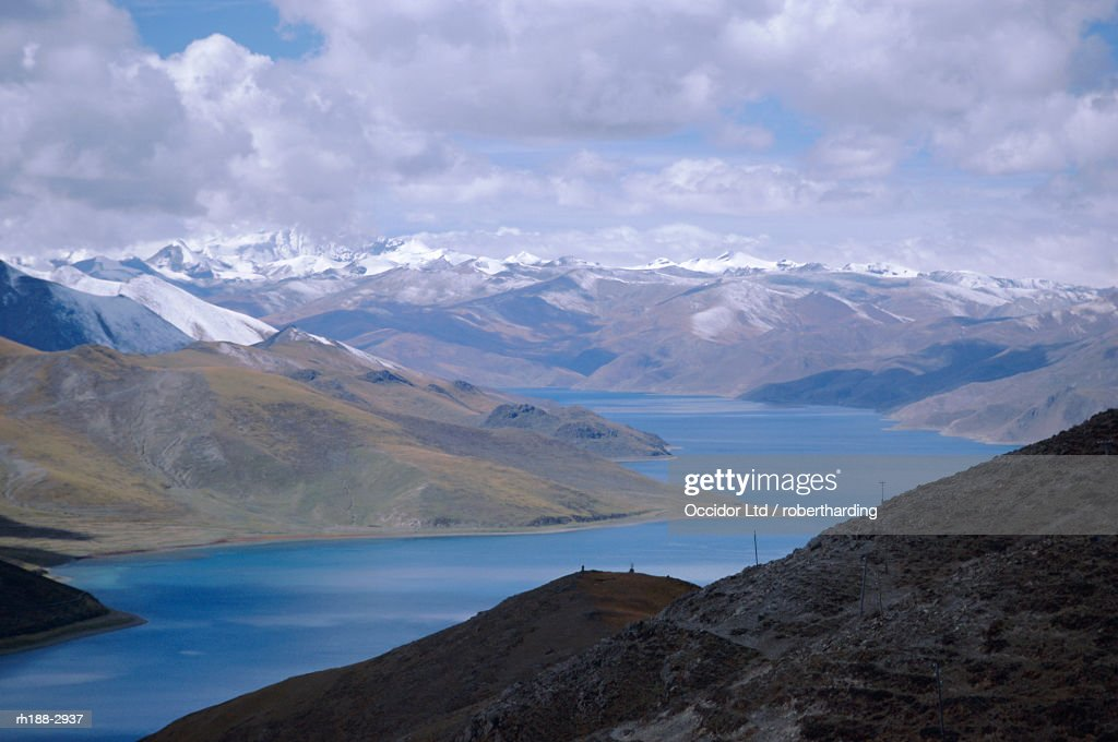 'Lake Yanzho Yumco, Tibet, China, Asia' : Foto de stock