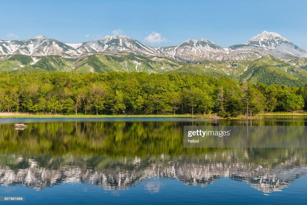 湖 Yonko, 北海道, 日本 : ストックフォト
