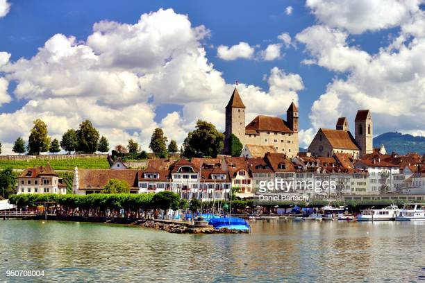 Lake Zurich, historic centre and Castle, Rapperswil, Canton of St. Gallen, Switzerland