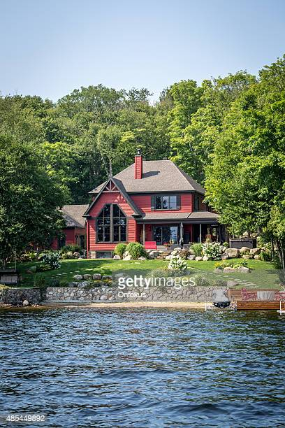 Lakefront Luxury Property on Sunny Day of Summer