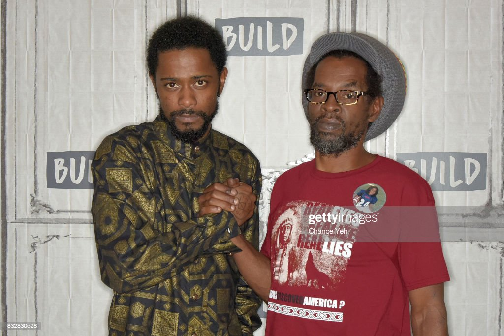 Lakeith Stanfield (L) and Colin Warner attend Build series to discuss 'Crown Heights' at Build Studio on August 16, 2017 in New York City.
