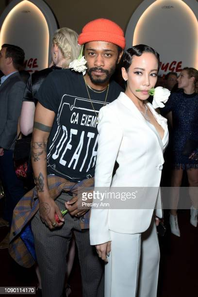Lakeith Stanfield and Fiona Xie attend Entertainment Weekly Celebrates Screen Actors Guild Award Nominees sponsored by L'Oreal Paris Cadillac And...