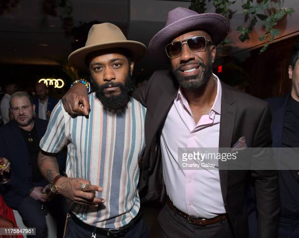 Lakeith Stanfield and J. B. Smoove attend the Audi pre-Emmy celebration at Sunset Tower in Hollywood on Thursday, September 19, 2019.