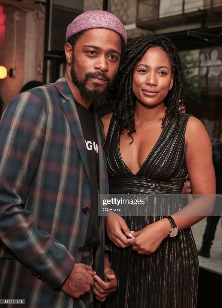 Lakeith Stanfield and Natalie Paul attend the New York premiere of 'Crown Heights' at The Metrograph on August 15, 2017 in New York City.