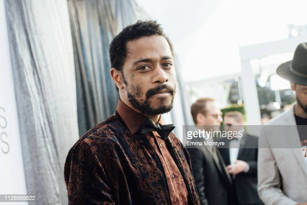 Lakeith Stanfield arrives at the 25th annual Screen Actors Guild Awards at The Shrine Auditorium on January 27 2019 in Los Angeles California