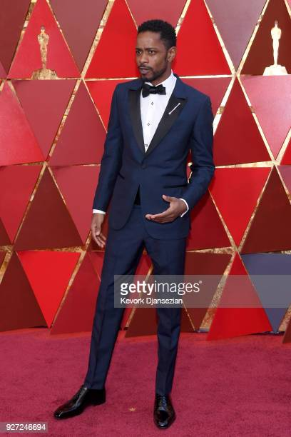 Lakeith Stanfield attends attends the 90th Annual Academy Awards at Hollywood Highland Center on March 4 2018 in Hollywood California