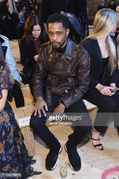 Lakeith Stanfield attends Coach 1941 fashion show at the NYSE on February 2019 during New York Fashion Week on February 12 2019 in New York City