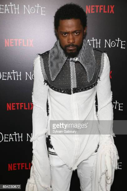 Lakeith Stanfield attends Death Note New York Premiere at AMC Loews Lincoln Square 13 theater on August 17 2017 in New York City