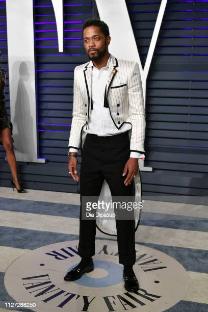 Lakeith Stanfield attends the 2019 Vanity Fair Oscar Party hosted by Radhika Jones at Wallis Annenberg Center for the Performing Arts on February 24...