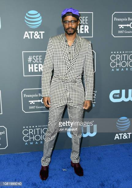 Lakeith Stanfield attends the 24th annual Critics' Choice Awards at Barker Hangar on January 13 2019 in Santa Monica California