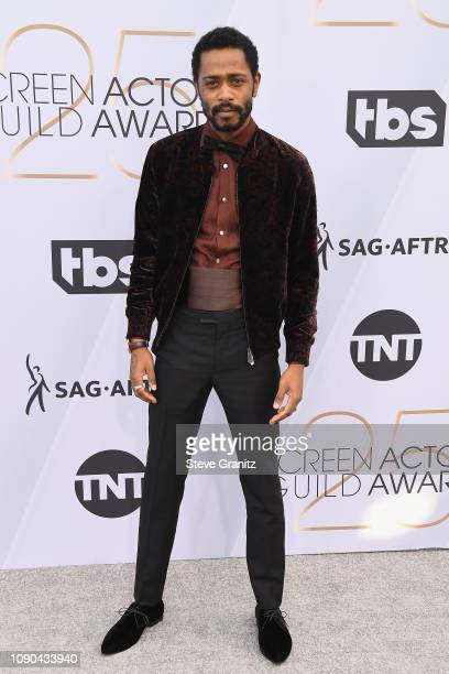 Lakeith Stanfield attends the 25th Annual Screen ActorsGuild Awards at The Shrine Auditorium on January 27 2019 in Los Angeles California