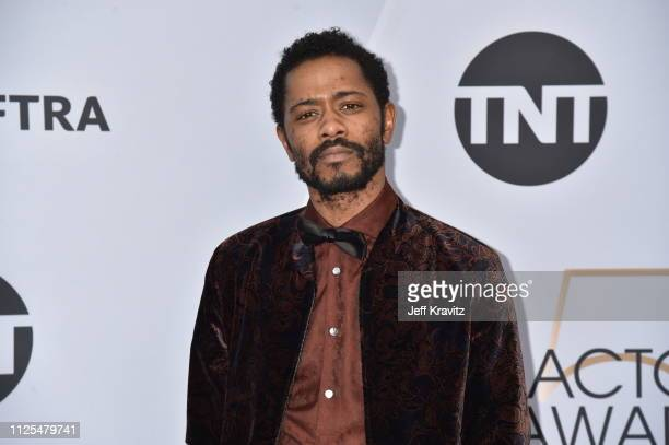 Lakeith Stanfield attends the 25th Annual Screen Actors Guild Awards at The Shrine Auditorium on January 27 2019 in Los Angeles California