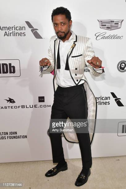 Lakeith Stanfield attends the 27th annual Elton John AIDS Foundation Academy Awards Viewing Party celebrating EJAF and the 91st Academy Awards on...