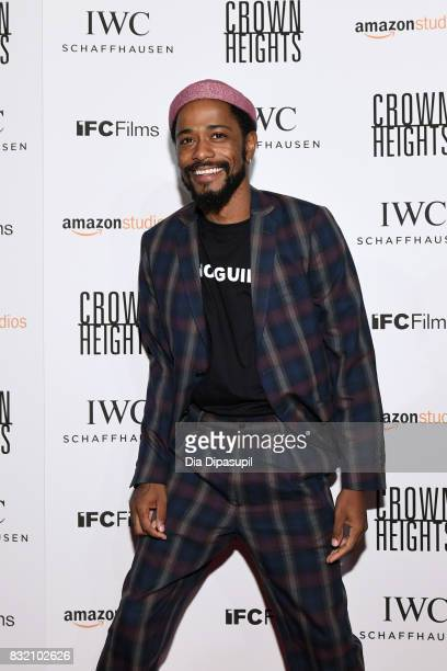 Lakeith Stanfield attends the Crown Heights New York premiere at Metrograph on August 15 2017 in New York City