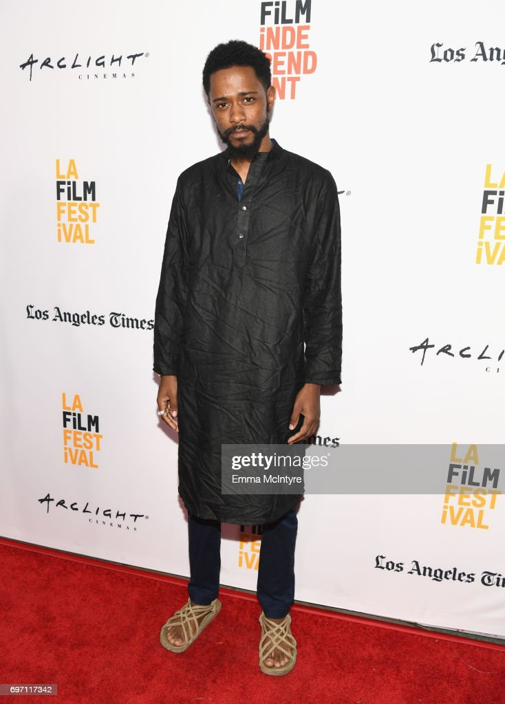 Lakeith Stanfield attends the 'Izzy Gets The Fuck Across Town' and 'Ok, Call Me Back' Premieres during the 2017 Los Angeles Film Festival at Arclight Cinemas Culver City on June 17, 2017 in Culver City, California.