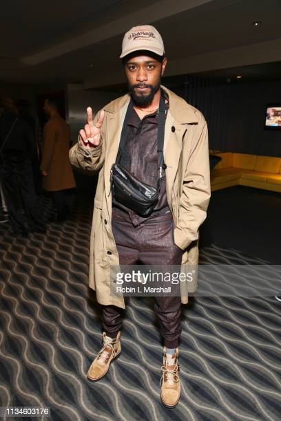 Lakeith Stanfield attends Universal US First Screening Los Angeles at Pacific Design Center on March 08 2019 in West Hollywood California