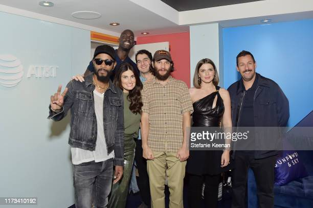 Lakeith Stanfield Idina Menzel Kevin Garnett Benny Safdie Josh Safdie Julia Fox and Adam Sandler stop by ATT ON LOCATION during Toronto International...