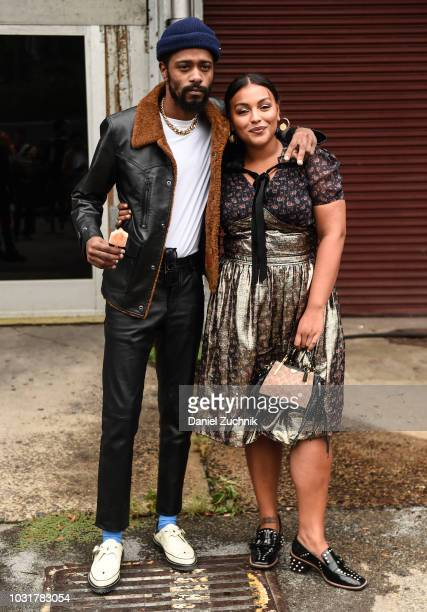 Lakeith Stanfield is seen wearing a Coach jacket outside the Coach 1941 show during New York Fashion Week: Women's S/S 2019 on September 11, 2018 in...