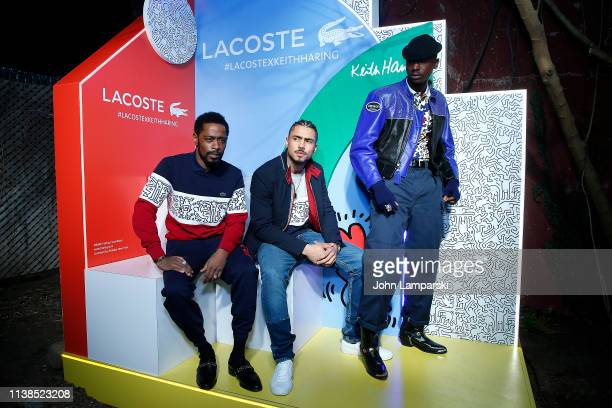 Lakeith Stanfield Quincy Brown and Ashton Sanders attend Lacoste x Keith Haring collaboration launch at Pioneer Works on March 26 2019 in New York...