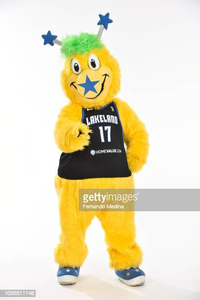 """Lakeland Magic mascot """"Swish"""" poses for a portrait during NBA G League Media Day on October 29, 2018 at RP Funding Center in Lakeland, Florida. NOTE..."""