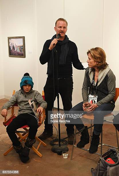 Laken Spurlock Morgan Spurlock and Amy Redford attend ThirtyThree Celebrating 33 Years Of The Independent Spirit Sundance Film Festival Exhibit at...